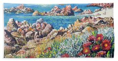 Italian Coastline Beach Towel by Lou Ann Bagnall