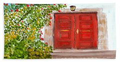 Italian Country Door Entrance Beach Sheet