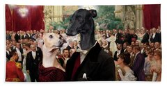 Italian Greyhound Art Canvas Print - Beautiful City Dance Hall Vienna Wilhelm Gause Beach Sheet