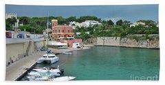 Italian Harbor - Puglia Beach Towel