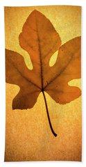 Beach Towel featuring the photograph Italian Honey Fig Leaf by Frank Wilson
