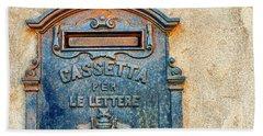 Italian Mailbox Beach Towel by Silvia Ganora