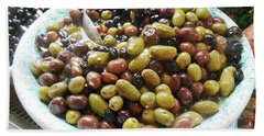 Italian Market Olives Beach Towel