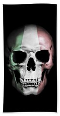 Beach Towel featuring the digital art Italian Skull by Nicklas Gustafsson