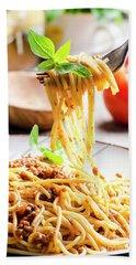 Italian Spaghetti Bolognese Beach Towel