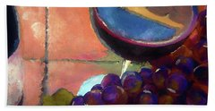 Italian Tile And Fine Wine Beach Sheet