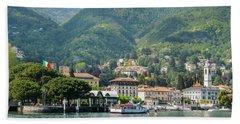 Italian Village On Lake Como Beach Sheet