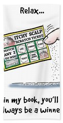 Itchy Scalp Scratch Ticket Beach Towel