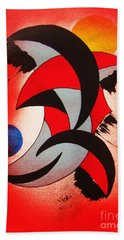 Beach Towel featuring the painting Ito-kina Doryoku by Roberto Prusso