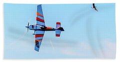 It's A Bird And A Plane, Red Bull Air Show, Rovinj, Croatia Beach Sheet