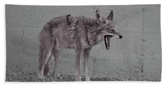 It's Been A Rough Day Beach Towel by Anne Rodkin