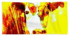 Yellow Cow Beach Towel