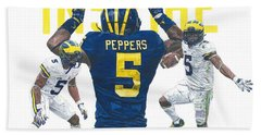 Jabrill Peppers Beach Towel