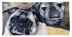Jack And Bella Beach Sheet by Diane Daigle