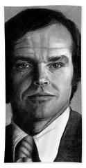 Jack Nicholson Portrait Beach Towel