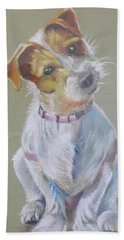 Jack Russell Watching You Beach Towel