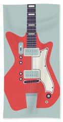 60's Electric Guitar - Grey Beach Towel