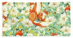 Jackals Beach Towel by Uma Gokhale