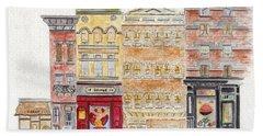Jack's Coffee On West 10th Street In Greenwich Village Beach Sheet