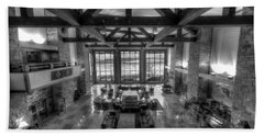 Jackson Lake Lodge Grand Tetons B W Beach Towel