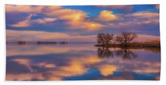 Beach Sheet featuring the photograph Jackson Lake Sunset by Darren White