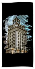 Jackson Tower Portland Oregon Beach Sheet by Thom Zehrfeld