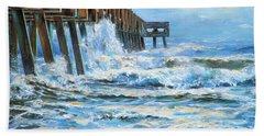 Jacksonville Beach Pier Beach Towel