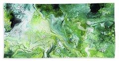 Jade- Abstract Art By Linda Woods Beach Towel