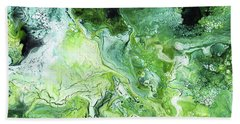 Jade- Abstract Art By Linda Woods Beach Towel