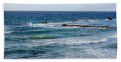 Jaffa Beach 10 Beach Sheet by Isam Awad