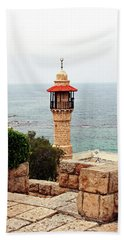 Beach Towel featuring the photograph Jaffa Israel by Denise Moore