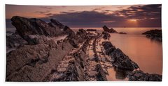 Jagged Rocks Beach Towel