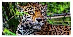 Jaguar At Peace Beach Sheet