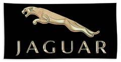 Jaguar Car Emblem Design Beach Sheet