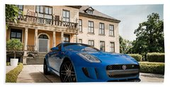 Jaguar F-type - Blue - Villa Beach Towel