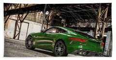 Jaguar F-type - British Racing Green - Rear View Beach Sheet