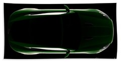 Jaguar F-type - Top View Beach Towel