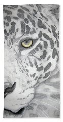 Beach Sheet featuring the drawing Jaguar by Mayhem Mediums