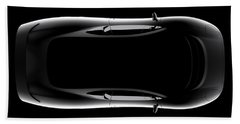 Jaguar Xj220 - Top View Beach Towel