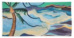 Jamaican Sea Breeze Beach Sheet by Jan Steinle