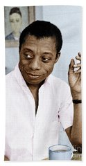 Beach Towel featuring the photograph James Baldwin by Granger