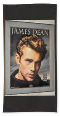 James Dean Hollywood Legend Beach Towel by Jay Milo