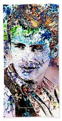 James Dean In Pop Art Beach Towel