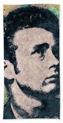 James Dean Portrait Beach Towel