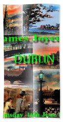 James Joyce's Dublin Beach Towel