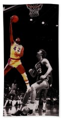 James Worthy Beach Towel by Brian Reaves