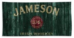 Jameson Irish Whiskey Barn Door Beach Towel