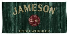 Jameson Irish Whiskey Barn Door Beach Towel