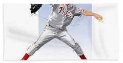 Jamie Moyer Beach Towel by Scott Weigner