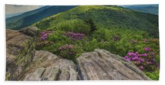 Jane Bald Rhododendrons Beach Towel